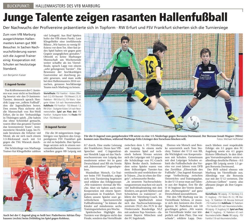 Bericht der Oberhessischen Presse 22.12.2015